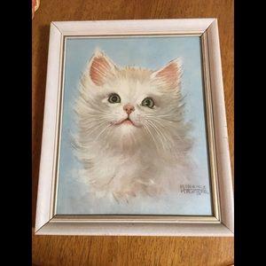 Vintage Cat Kitten framed print Florence Kroger